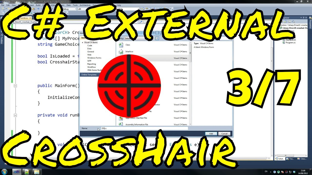 Video Tutorial - C# - Direct3D 9 Overlay Custom Crosshair