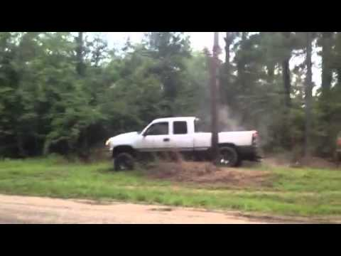 Jacked up Z71 Chevy duremax vs Ford 4x4 Sport - YouTube