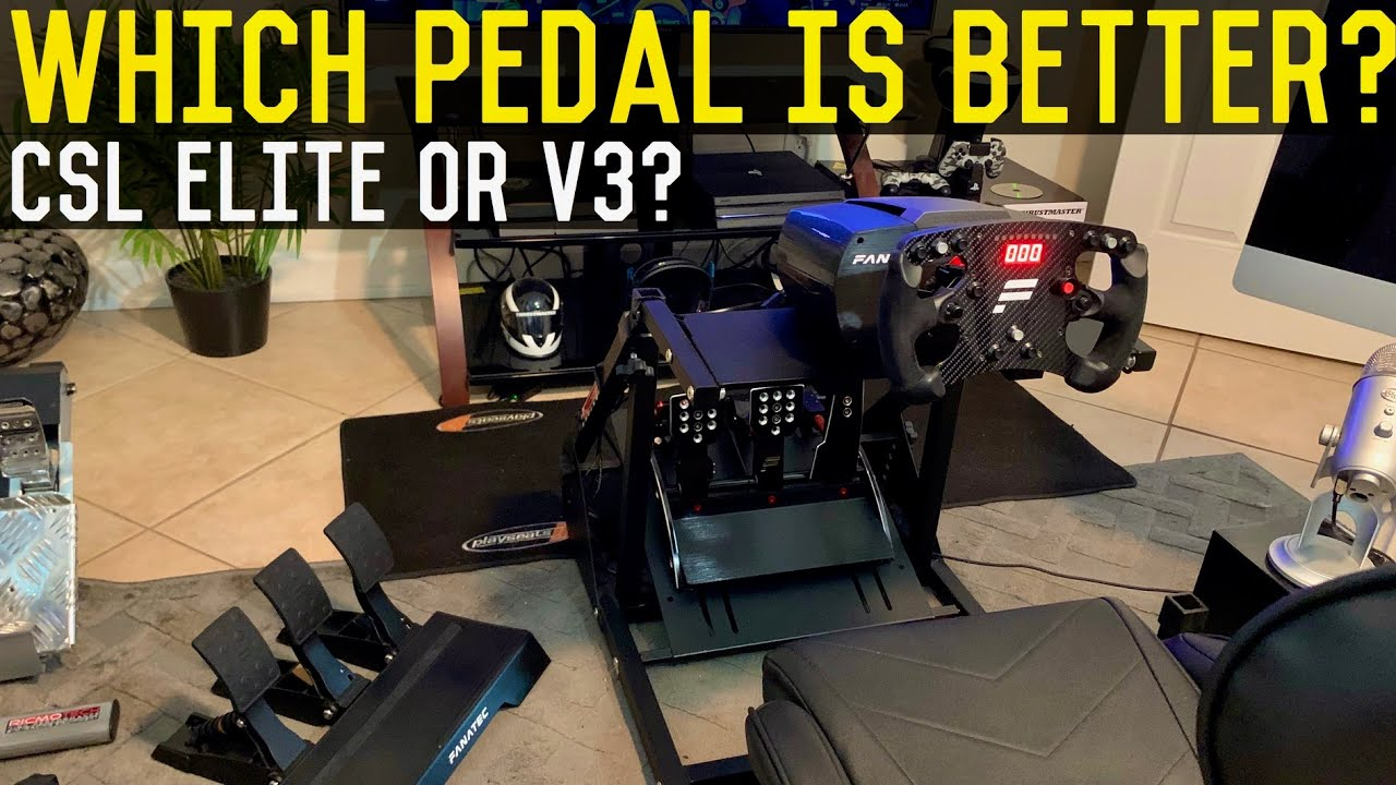 Fanatec V3 Pedals Vs CSL Elite Load cell