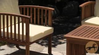 Patio 4 piece Outdoor Acacia Sofa Set