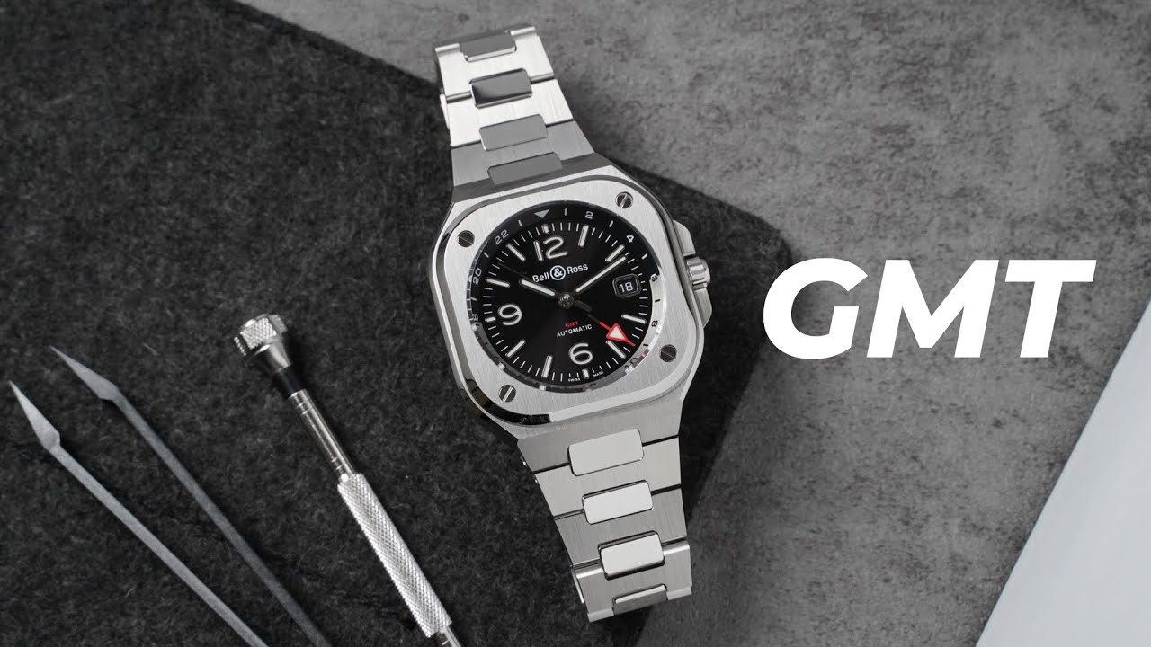 BR05家族新成員BELL&ROSS BR05 GMT兩地時間腕錶/奢華運動錶/一體式鏈帶