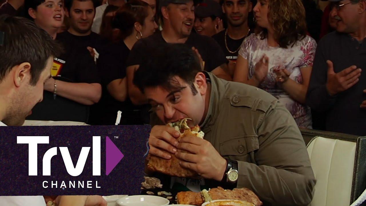 Man v. Food: Stuffed Pizza Challenge - YouTube