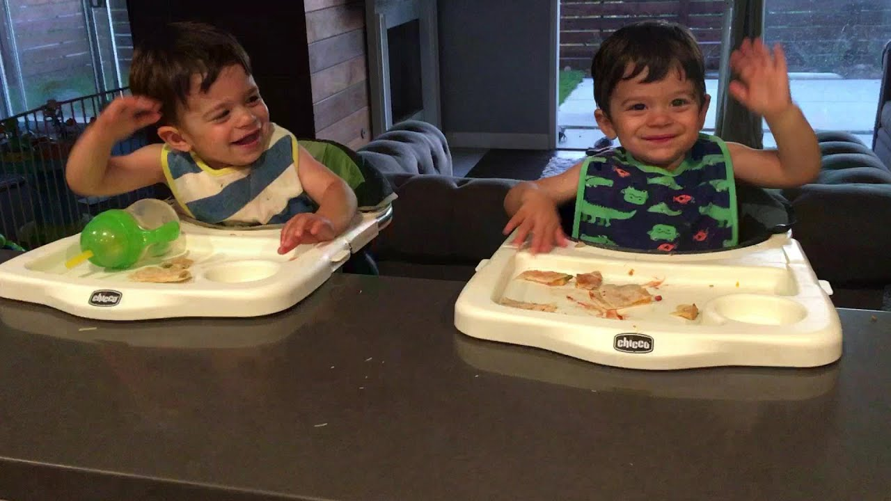 Cute twins dance to kitchen drum solo!