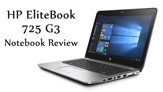 hP EliteBook 725 G3 Notebook Review