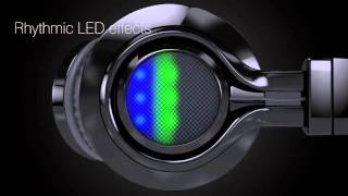 iBall Clarity Headset Glint BT06 with dancing rhythmic LED effects.
