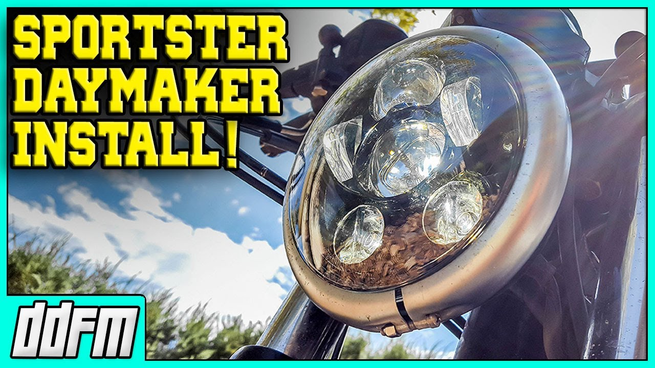 Harley Sportster Led Headlight Conversion In Under 6 Minutes 2007 Nightster Fuse Diagram Wisamic Replacement