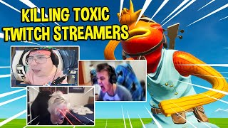 KILLING TOXIC TWITCH STREAMERS #4 (Funny Reactions) - Fortnite
