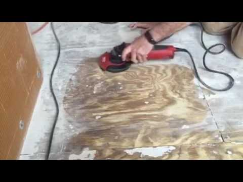 Removing Thinset From Plywood With Lackmond S F5 Wheel Youtube