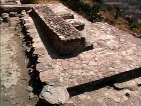 Zona arqueológica llamada los baños de Nezahualcóyotl situada en Texcoco
