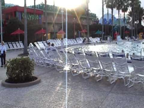 The swimming pool of Disneys All Star Music