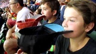#44 Little Dude Perfect Houston Astros Edition Baseball boys trick shots