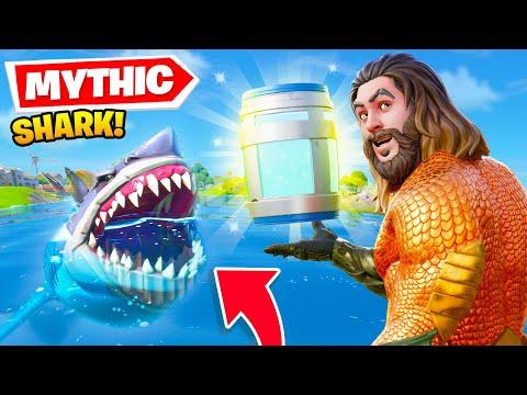 Feeding *MYTHIC* Items To SHARKS... (Fortnite Season 3)