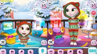 My Talking Angela BABY VS ADULT/ LEVEL 8 Vs LEVEL 101 Gameplay Great Makeover for Children HD