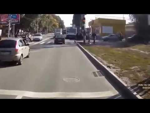 Видео аварий с видеорегистратора 2015.