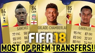 Fifa 18! most op new prem players!! overpowered fifa 18 player prediction