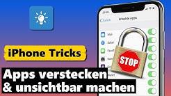 Apps verstecken & unsichtbar machen (iPhone Apps ausblenden)