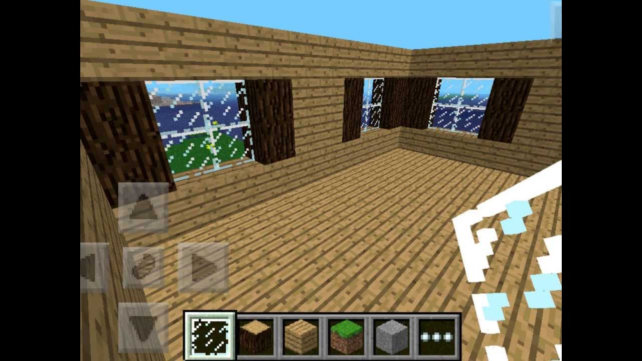 How To Build A Medium Sized House In Minecraft Pe Youtube