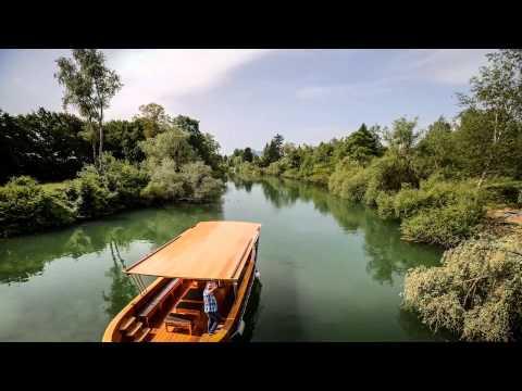 Ljubljana from the river boat - Timelapse HD