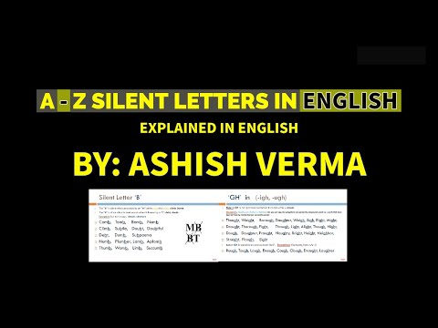 A to Z Silent Letters in English