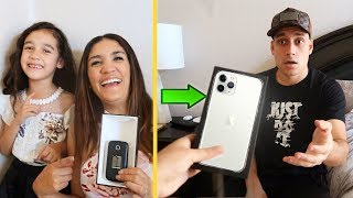 iPhone 11 pro PRANK on DAD * Bad Idea * | Jancy Family