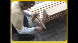 How To Assemble And Hang A Porch Swing From Cedarstore.com