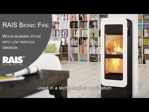 RAIS Bionic Fire - Wood-burning stove with low particle emission