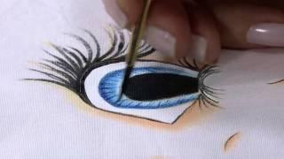 Pintura tecido rosto de boneca Parte 2/2