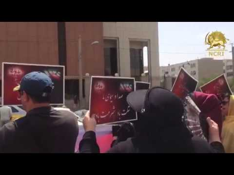 TEHRAN, Iran. Protest gathering of the looted depositors of ' Shandiz' financial institute
