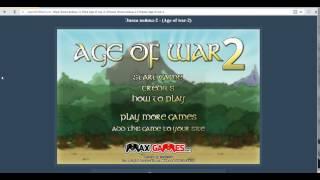 Flash неделя Age of war 2 Эпоха войны 2
