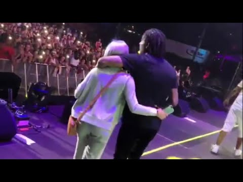 lil durk brings his girlfriend India out at rolling loud Miami 2018