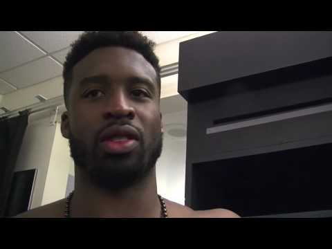 Wesley Matthews talks about stopping Damian Lillard on final play of game