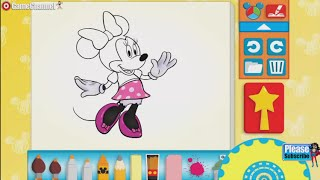 Minnie Mouse Color And Play Clup House Paint 3D Color Disney Junior Animated Coloring Book
