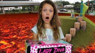 The Floor Is Lava Challenge | OMG LOL Surprise