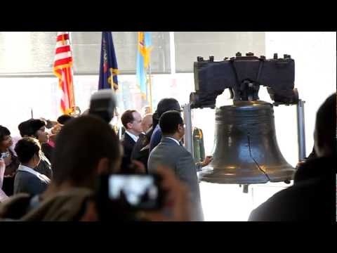 Martin Luther King Jr. Day 2012 ringing of the Liberty Bell