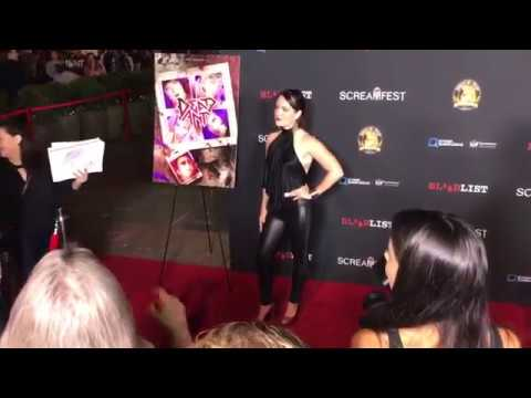 Sarah Nicklin Attends Screamfest 2017  Night