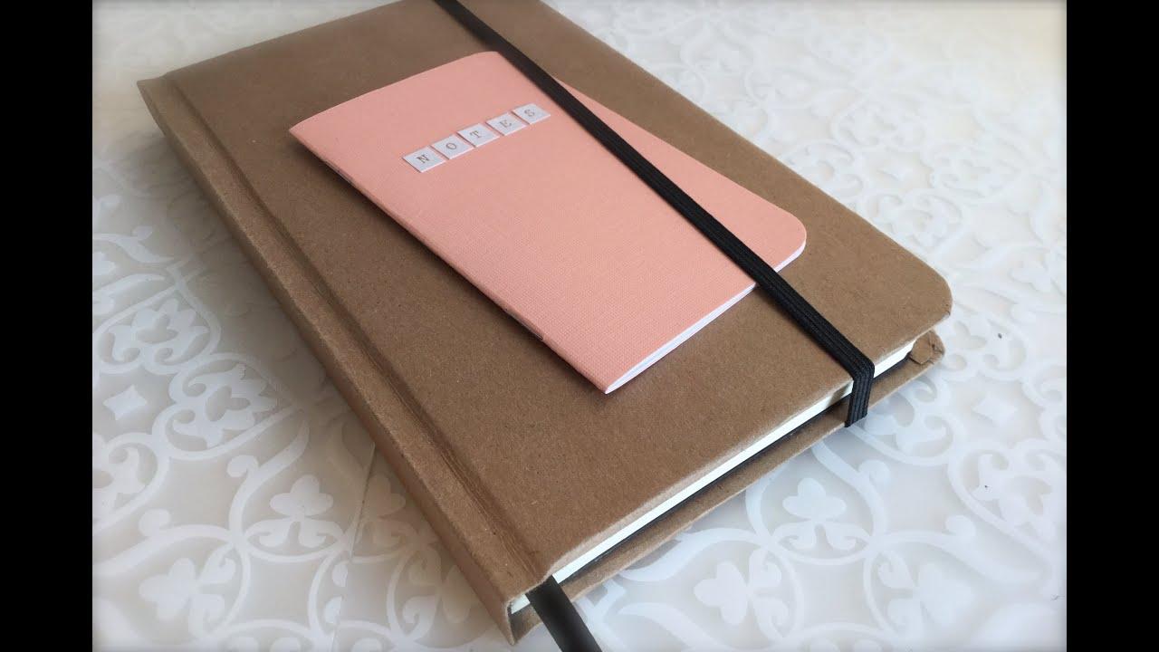 Diy Soft Cover Book Binding : Diy moleskine journal sketchbook part youtube