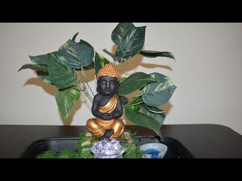 Calm and soothing Zen Garden | small budget home decor ideas | DIY Dollar tree Buddha garden decor