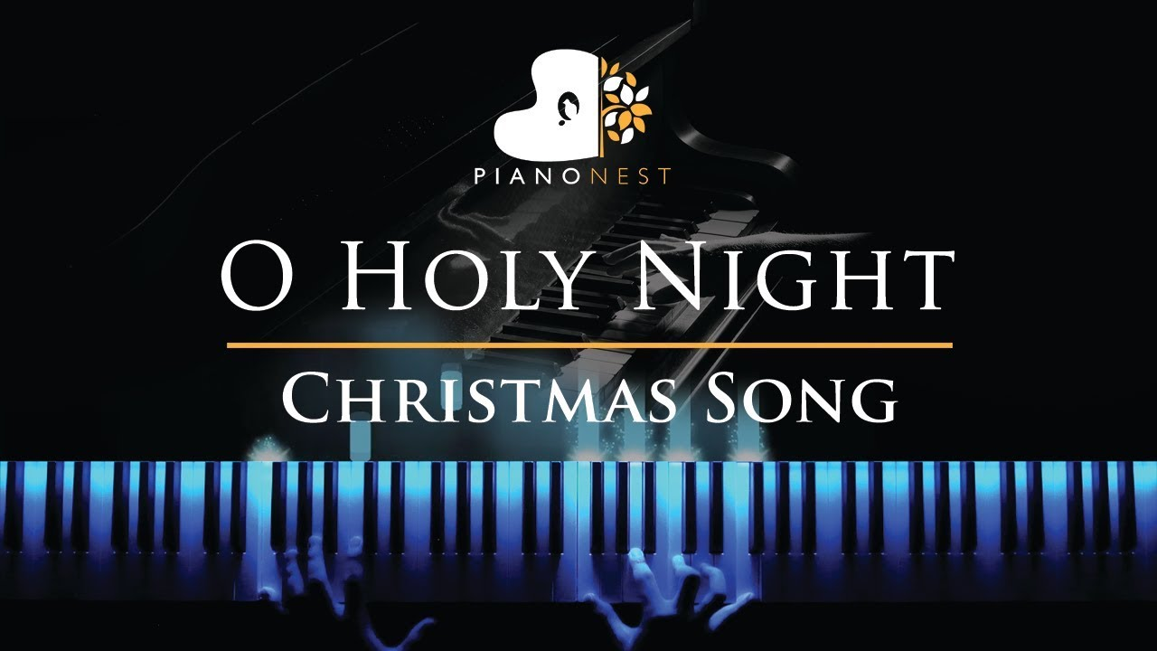 O Holy Night - in F - Christmas Song (Piano Karaoke / Sing Along Cover with Lyrics) - YouTube
