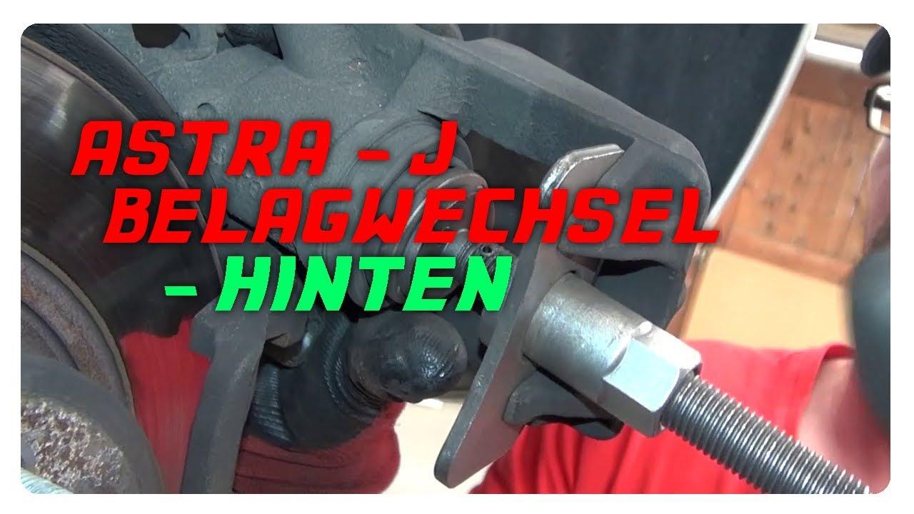 astra j - bremsbelagwechsel hinten 2.0 cdti - youtube