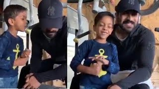 Ram Charan Konidela Making Superb Fun With a Kid At GYM | #RRR Movie latest updates | Filmylooks