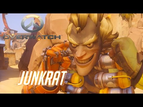 Overwatch - Junkrat and Roadhog Introduction and Ability Previews (Overwatch Gameplay) (Blizzard)