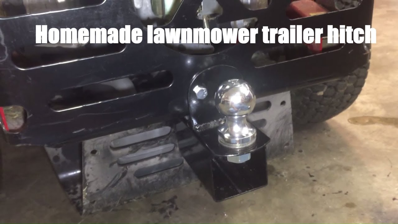 Homemade Lawnmower Trailer Hitch For ZTR YouTube