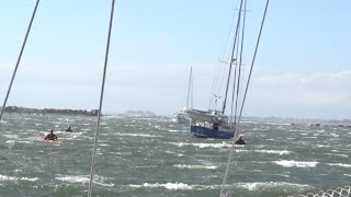 RIDING OUT A GALE AT ANCHOR