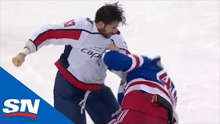 Tom Wilson And Brendan Lemieux Drop The Gloves Late In Rangers And Capitals Game