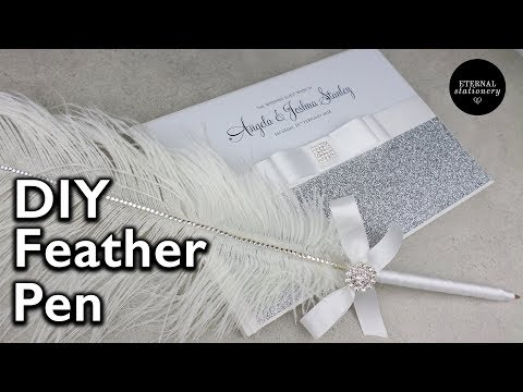 DIY Feather Pen for guestbook | Wedding Invitations | Eternal Stationery