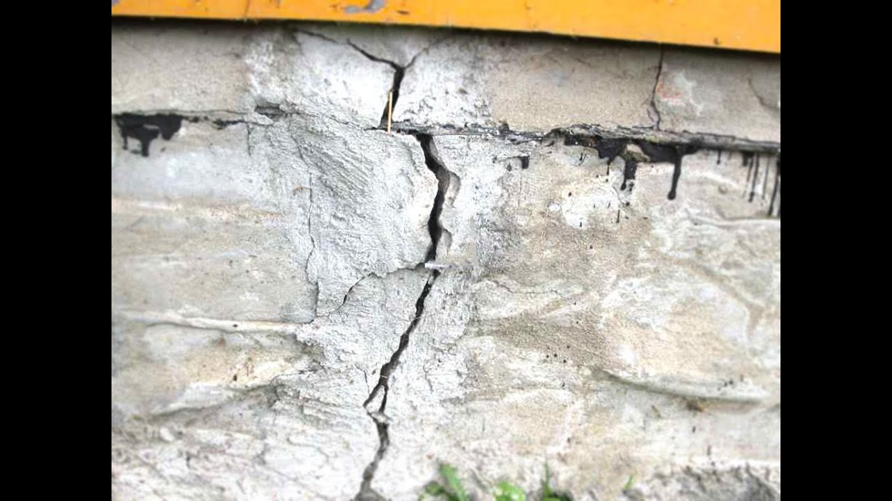 Трещина в фундаменте. Ошибки в строительстве!