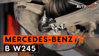 Pamoka: Kaip pakeisti atramos/vairo traukė MERCEDES-BENZ B W245