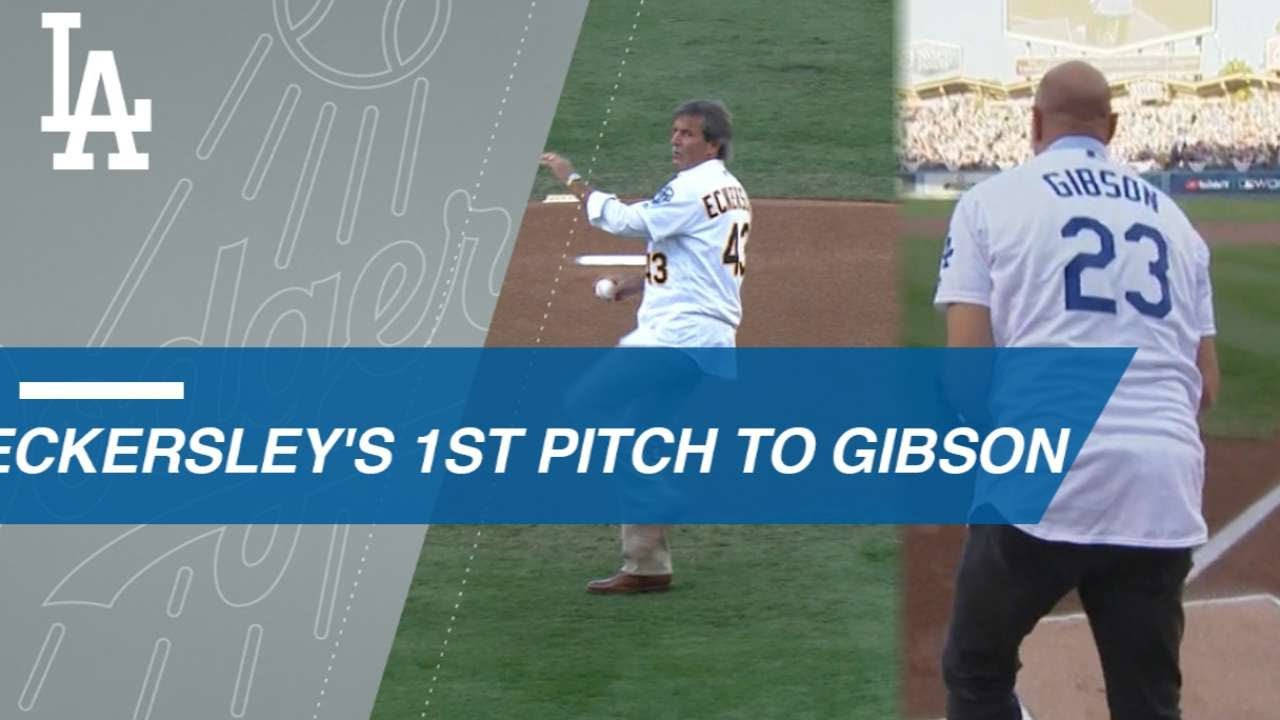 fb308c0dd Eckersley's first pitch to Gibson in World Series Game 4 - YouTube