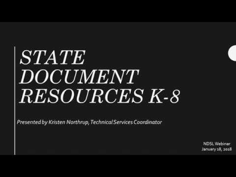 ND State Document Resources K-8!