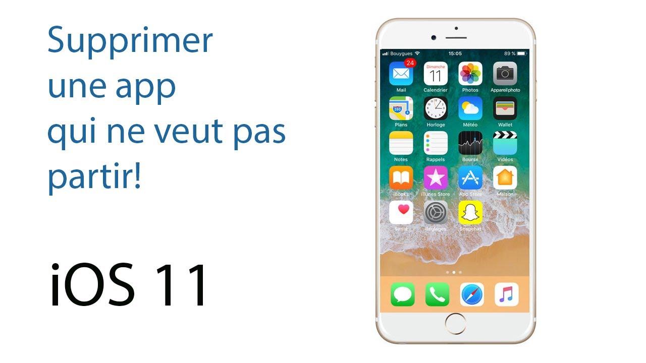 comment supprimer une application sur iphone 7